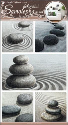 Anděl Přerov Samolepka kameny v písku 50x32 cm