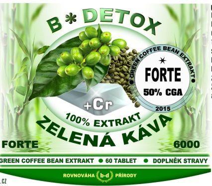 Bio-detox Zelená káva 6000 mg s chrómem 2x120 tablet