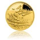 Česká mincovna Zlatá mince 5 NZD Potopení Bismarcku proof