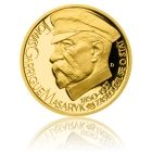 Česká mincovna Stříbrná pozlacená medaile Českoslovenští prezidenti - T. G. Masaryk proof