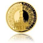 Česká mincovna Zlatá čtvrtuncová medaile Rozhledna Lednický minaret proof