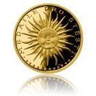 Česká mincovna Zlatá medaile Štěstí s věnováním proof