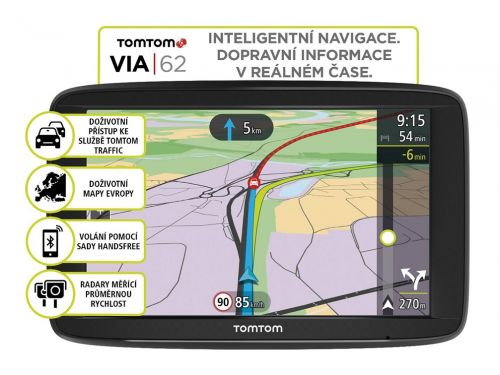 TomTom VIA 62 Europe LIFETIME