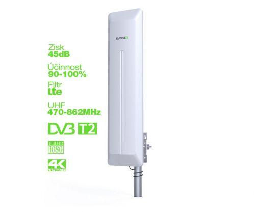 EVOLVEO HDO aktivní venkovní DVB-T/T2 anténa