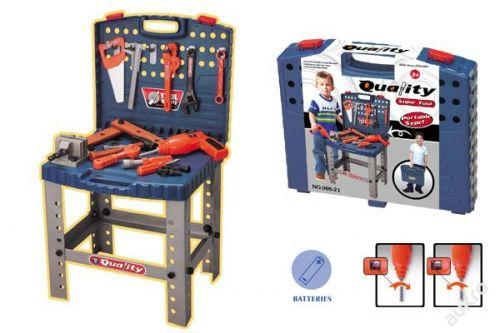 Smoby Dílna a kufřík s nářadím a pracovní stůl 3887 cena od 0 Kč