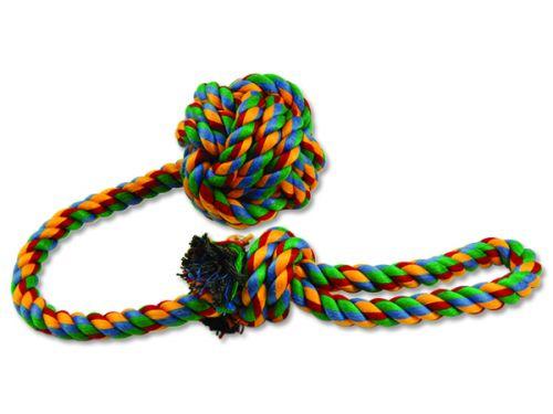 DOG FANTASY Přetahovadlo házecí barevné 55 cm