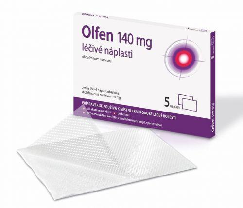 OLFEN 140 mg léčivé náplasti 5 ks cena od 158 Kč