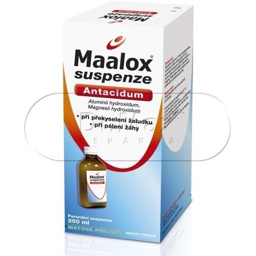Maalox suspenze 250 ml cena od 75 Kč