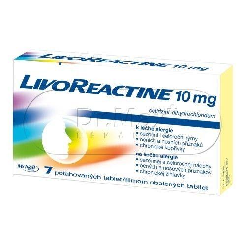 LivoReactine 10 mg 7 tablet cena od 78 Kč