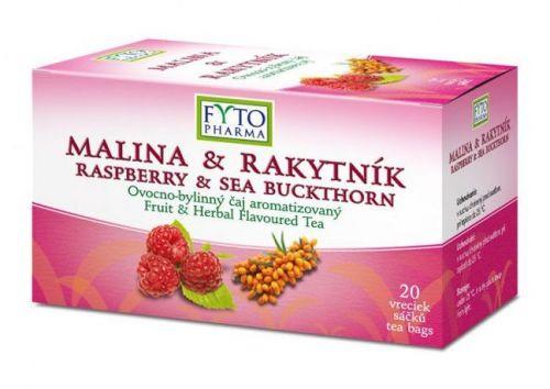 Fytopharma Ovocno-bylinný čaj malina & rakytník 20x2 g cena od 61 Kč