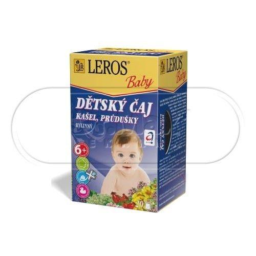 LEROS BABY Dětský čaj Kašel a průdušky 20x1,5 g cena od 49 Kč
