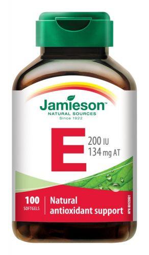 JAMIESON Vitamín E 200IU 100 kapslí