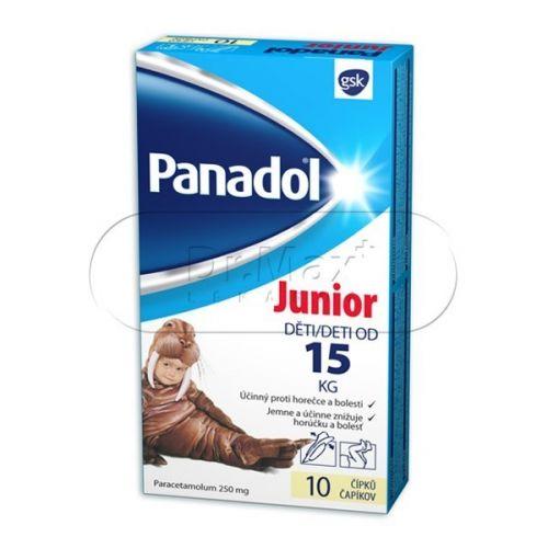 Panadol Junior 10 čípků cena od 55 Kč