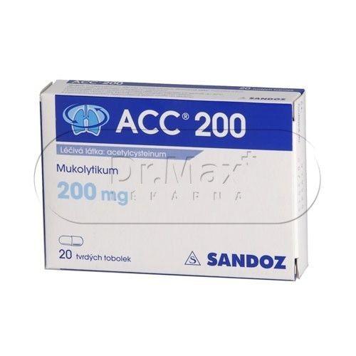 ACC 200 200 mg 20 tablet cena od 60 Kč