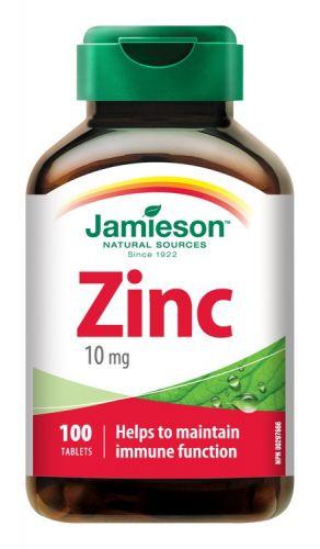 JAMIESON Zinek 10 mg 100 tobolek