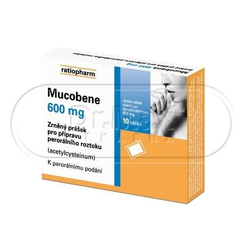 Mucobene 600 mg 10 sáčků cena od 80 Kč