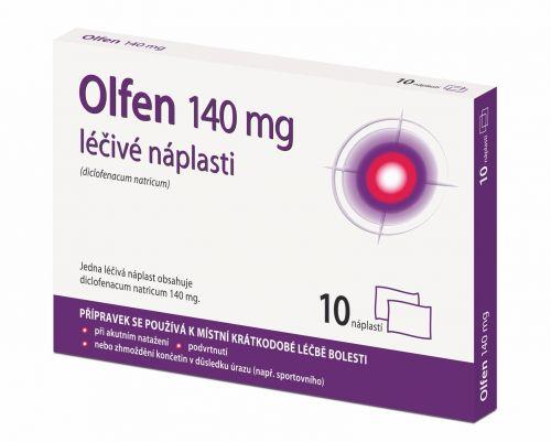 OLFEN 140 mg léčivé náplasti 10 ks cena od 250 Kč