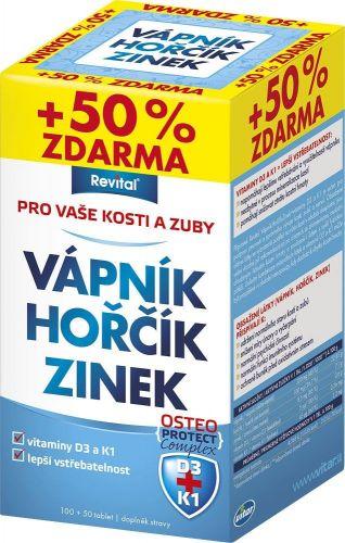 Vápník+hořčík+zinek+vitamin D3+vitamin K1 100+50 tobolek