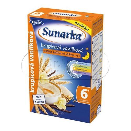 Sunarka krupicová kašička vanilková na dobrou noc mléčná 225 g