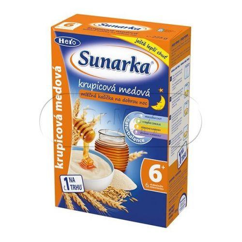 Sunarka krupicová kašička medová na dobrou noc mléčná 225 g