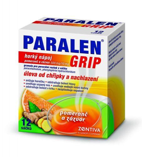 Paralen Grip Horký nápoj pomeranč a zázvor 12 sáčků cena od 118 Kč
