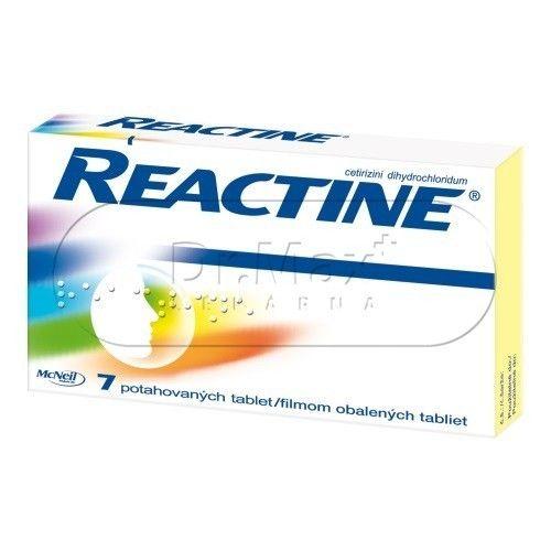 Reactine 10 mg 7 tablet cena od 0 Kč