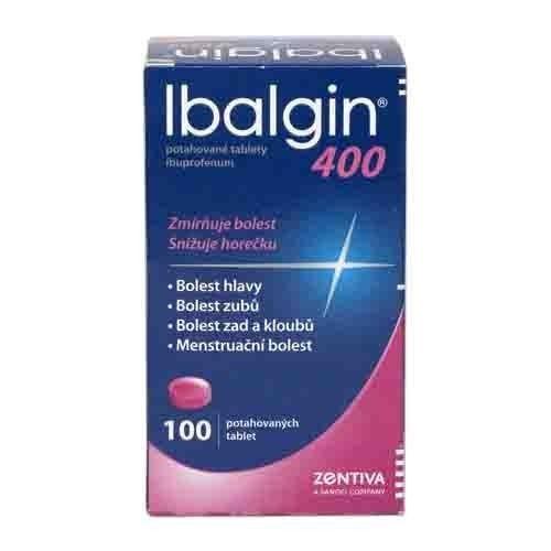 Ibalgin 400 mg 100 tablet cena od 99 Kč