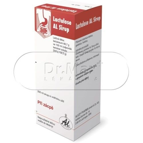 Lactulose AL Sirup 200 ml cena od 96 Kč