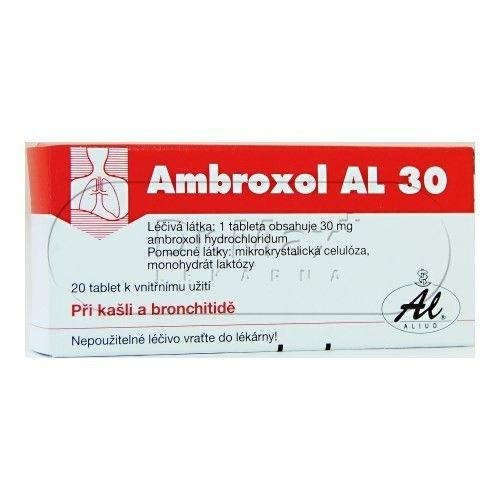 Ambroxol AL 30 20 tablet cena od 41 Kč