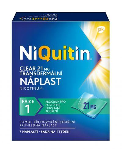 NiQuitin Clear 21 mg 7 náplastí cena od 489 Kč