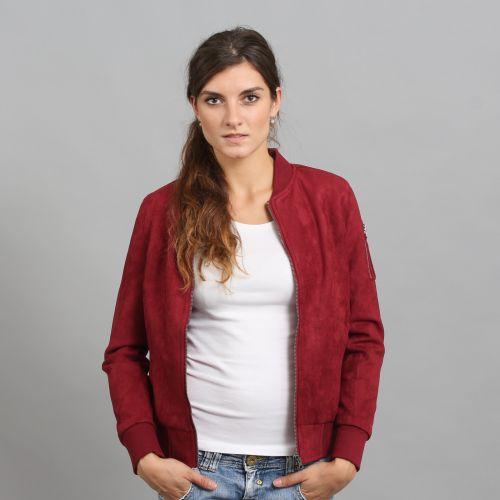 Urban Classics Ladies Imitation Suede Bomber Jacket bunda