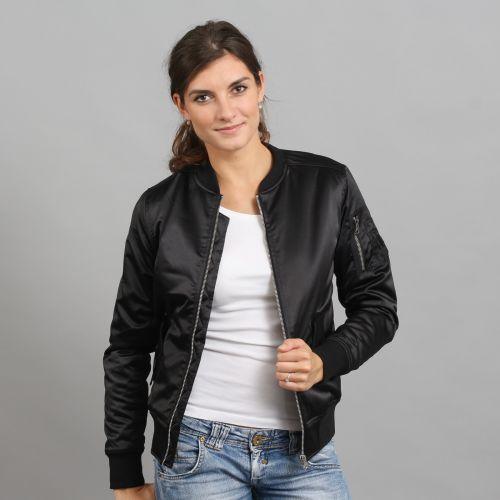 Urban Classics Ladies Satin Bomber Jacket bunda