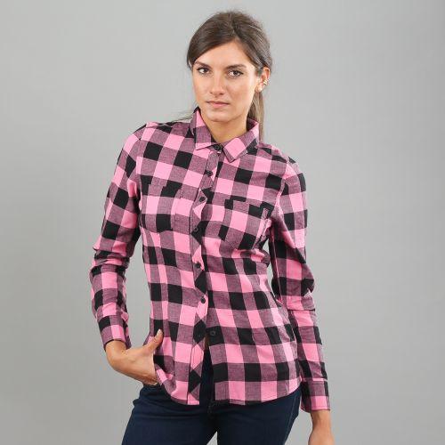 Urban Classics Ladies Turnup Checked Flanell košile