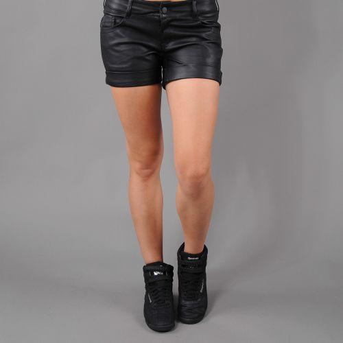 Urban Classics Ladies Imitation Leather Hot kraťasy