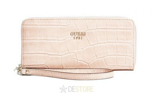 GUESS Cate Crocodile Embossed Zip Around peněženka
