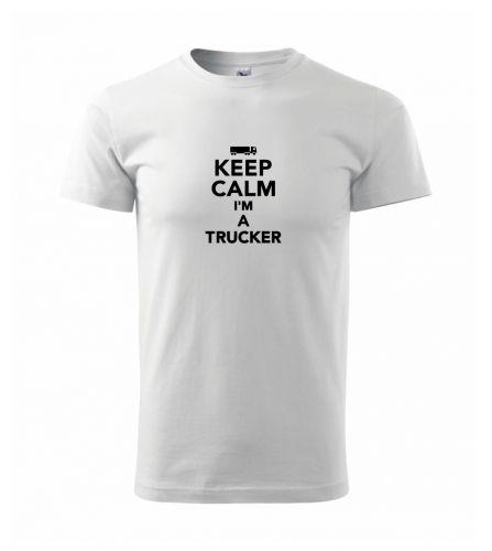 Myshirt.cz Keep calm im a trucker triko