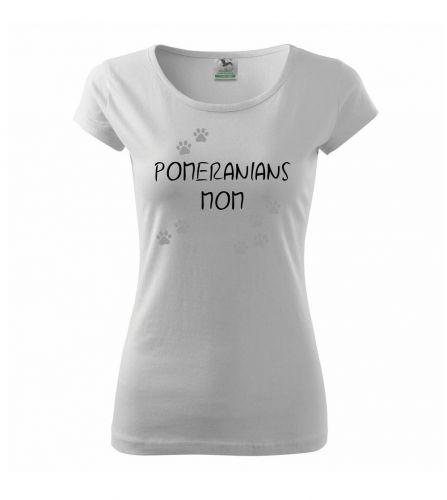 Myshirt.cz Pomerian mom (Německý trpasličí špic) (Reflexní tlapky) triko