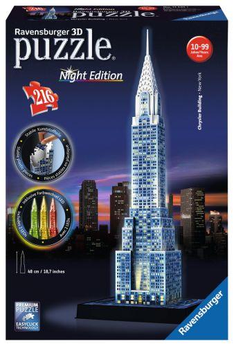 Ravensburger Chrysler building Noční edice 3D 216 dílků cena od 629 Kč