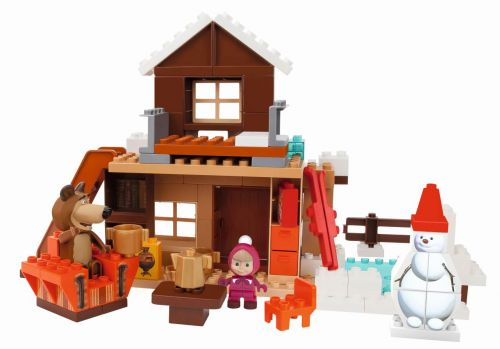BIG BLOXX Máša a medvěd Míšův zimní dům