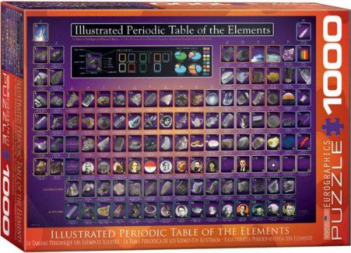 EuroGraphics Puzzle Ilustrovaná periodická tabulka 1000 dílků