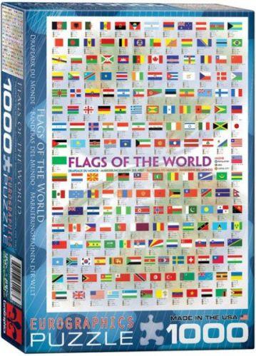 EuroGraphics Puzzle Vlajky světa 1000 dílků