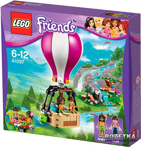 LEGO Friends Horkovzdušný balón v Heartlake 41097 cena od 618 Kč