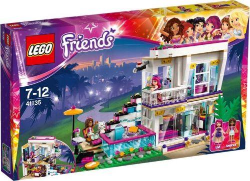 LEGO Friends Livi a její dům popové hvězdy 41135 cena od 1899 Kč
