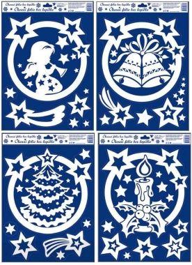 Anděl Přerov Okenní fólie Motivy v kruhu s duhovými glitry set