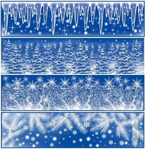 Anděl Přerov Okenní fólie pruh Ledové květy, rampouchy s duhovými glitry set