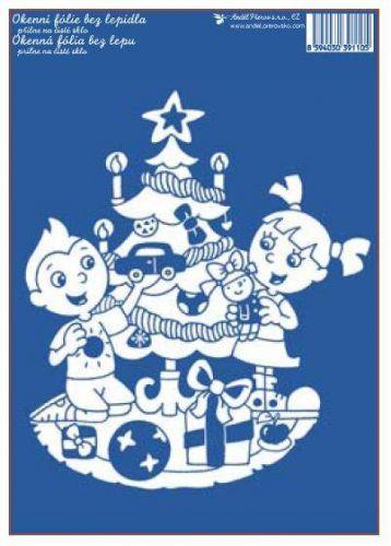Anděl Přerov Okenní fólie Vánoční stromeček 33x23 cm