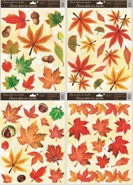Anděl Přerov Okenní fólie Podzimní listí set