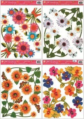 Anděl Přerov Okenní fólie rohová květinová 4 motivy