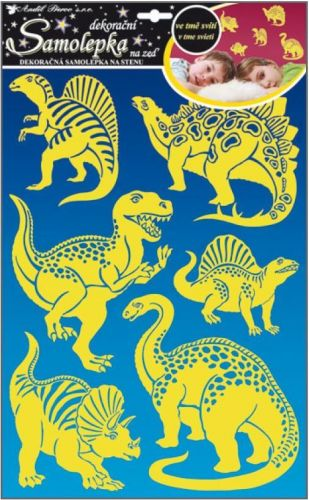 Anděl Přerov Svítící samolepka Dinosauři
