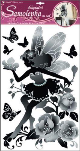 Anděl Přerov Room Decor víla černá glitry a kamínky